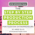 Fashion Design Production Checklist for Manufacturing: Successful Fashion Designer Podcast Interview with Abbie Ellis of Stitch Method by Sew Heidi