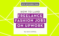 How to Get Freelance Fashion Design Jobs on UpWork: Successful Fashion Designer Podcast Interview with Kim Dippel by Sew Heidi