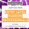 Dior of Pepper Your Talk: Successful Fashion Designer interview with Sew Heidi