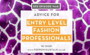 Dior of Pepper Your Talk: Successful Fashion Designer interview with Sew Heidi