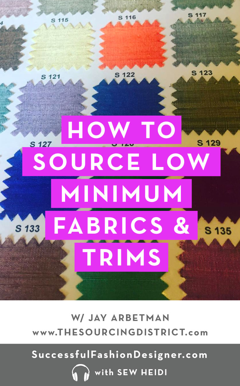 Fashion Fabric Sourcing (with low minimums)