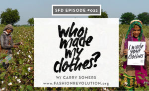 Fashion Revolution Founder Carry Somers, Who Made My Clothes, Interview with Sew Heidi of Successful Fashion Designer