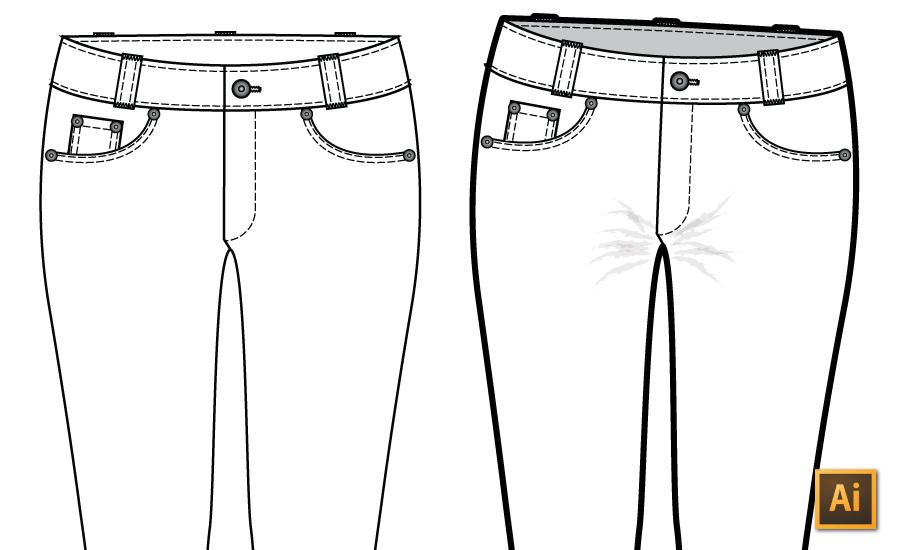 Draw Realistic Fashion Flats in Illustrator Tutorial {Sew Heidi}