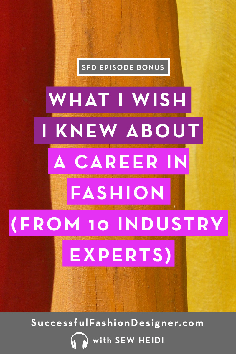 BONUS what i wish i knew fashion careerPIN 80