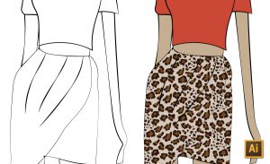 Color a Black & White Illustration Quickly with Live Paint Tutorial by {Sew Heidi}