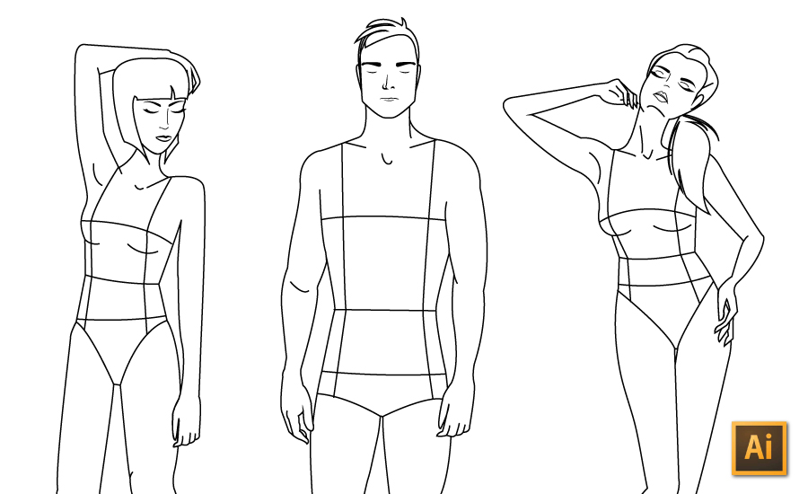 Drawing Lines With The Pen Tool : Drawing fashion illustrations with illustrator s pen tool