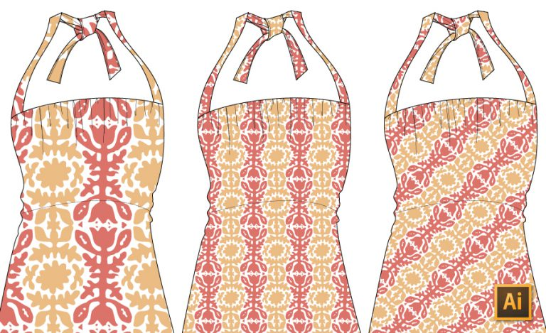 Edit Direction and Scale (Resize) of Patterns in Illustrator Tutorial by {Sew Heidi}