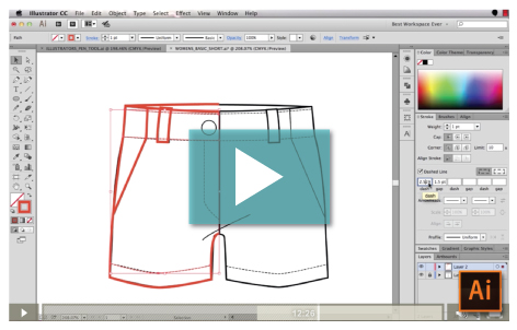 Sketch Fashion Flats in Illustrator {Sew Heidi}