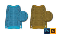 Fashion Illustration Tutorial: Knit Repeating Pattern Textures