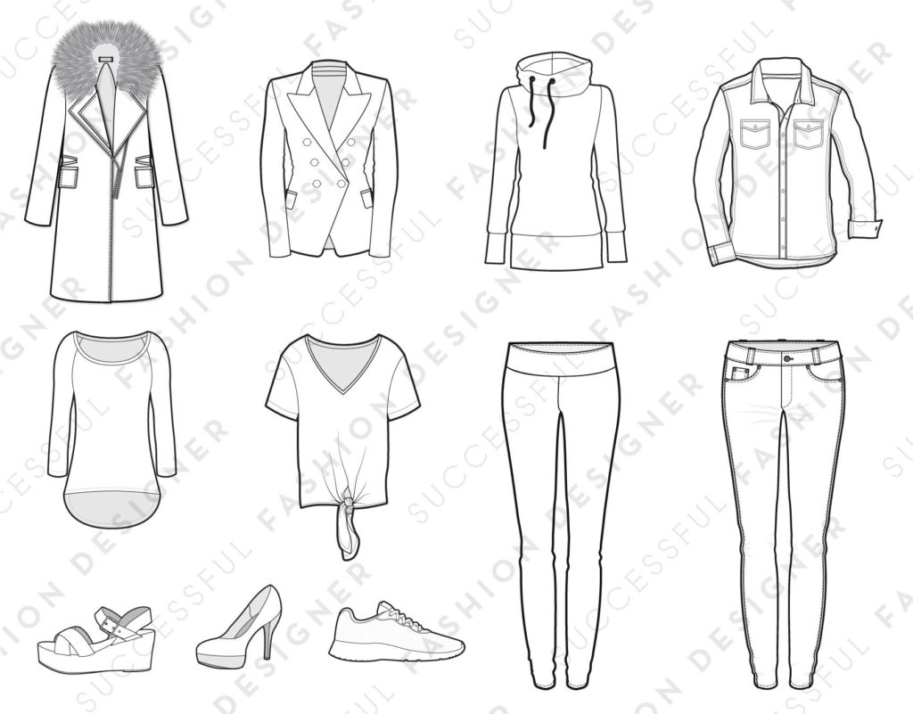 Free Illustrator Fashion Flat Templates by Sew Heidi