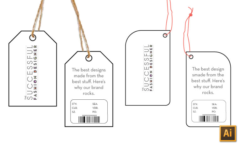 How to Make a Hangtag in Illustrator tutorial by {Sew Heidi}