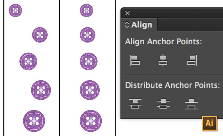 How to Align Objects in Illustrator Tutorial by {Sew Heidi}