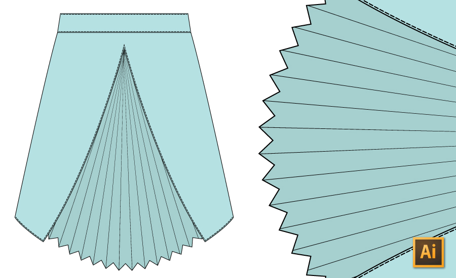 How to Draw Pleats on Fashion Flats in Illustrator Tutorial {Sew Heidi}