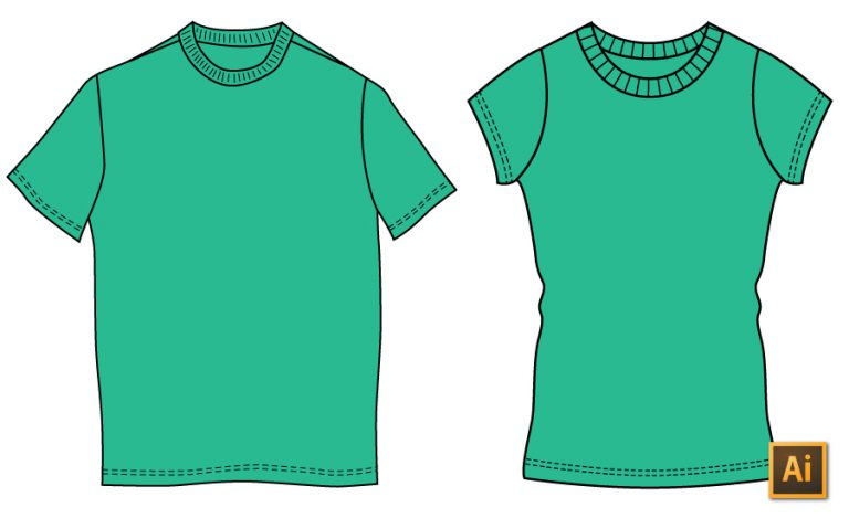 How To Draw A T Shirt In Illustrator The Right Way
