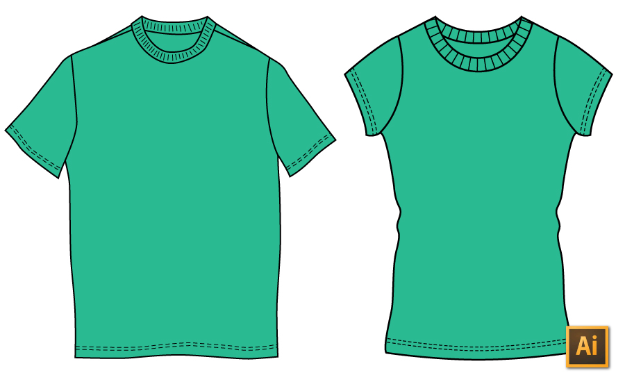 How to draw a t shirt in illustrator the right way for How to design a shirt in illustrator