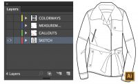 How to Spec a Garment in Illustrator Tutorial by {Sew Heidi}