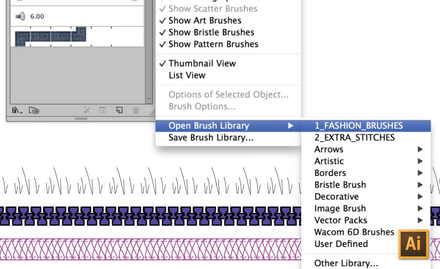 How to Load Custom Brushes in Illustrator Tutorial {Sew Heidi}