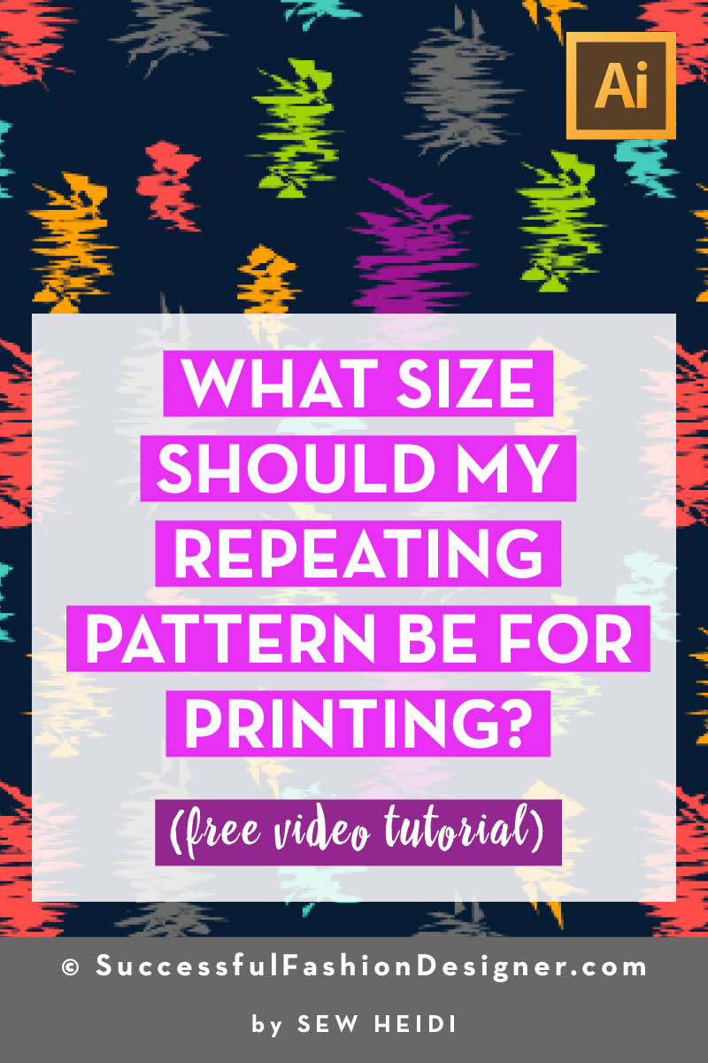 What Size Should a Repeating Pattern Be for Printing?
