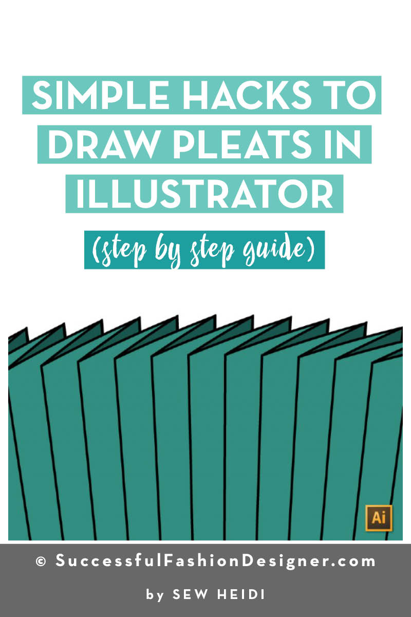 Simple Hacks to Draw Pleats in Illustrator