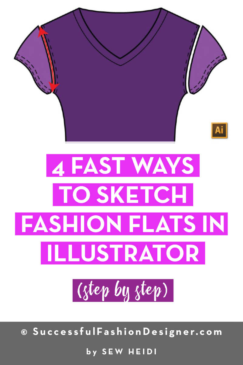 4 Ways To Sketch Fashion Flats In Illustrator Courses Free Tutorials On Adobe Illustrator Tech Packs Freelancing For Fashion Designers Courses Free Tutorials On Adobe Illustrator Tech