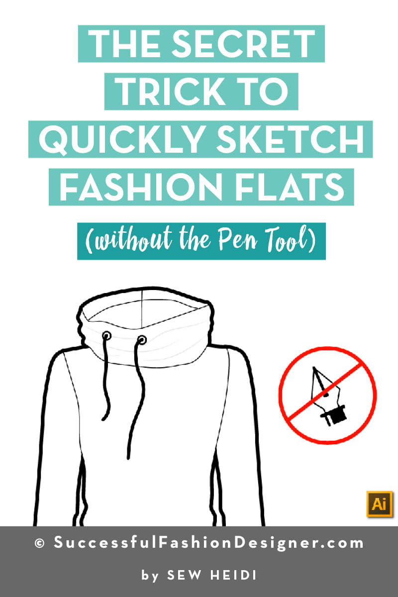 How to Sketch Fashion Flats in Illustrator (without the Pen Tool)