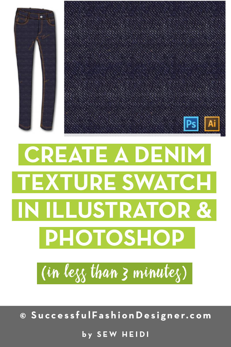 how to create a denim texture swatch in illustrator