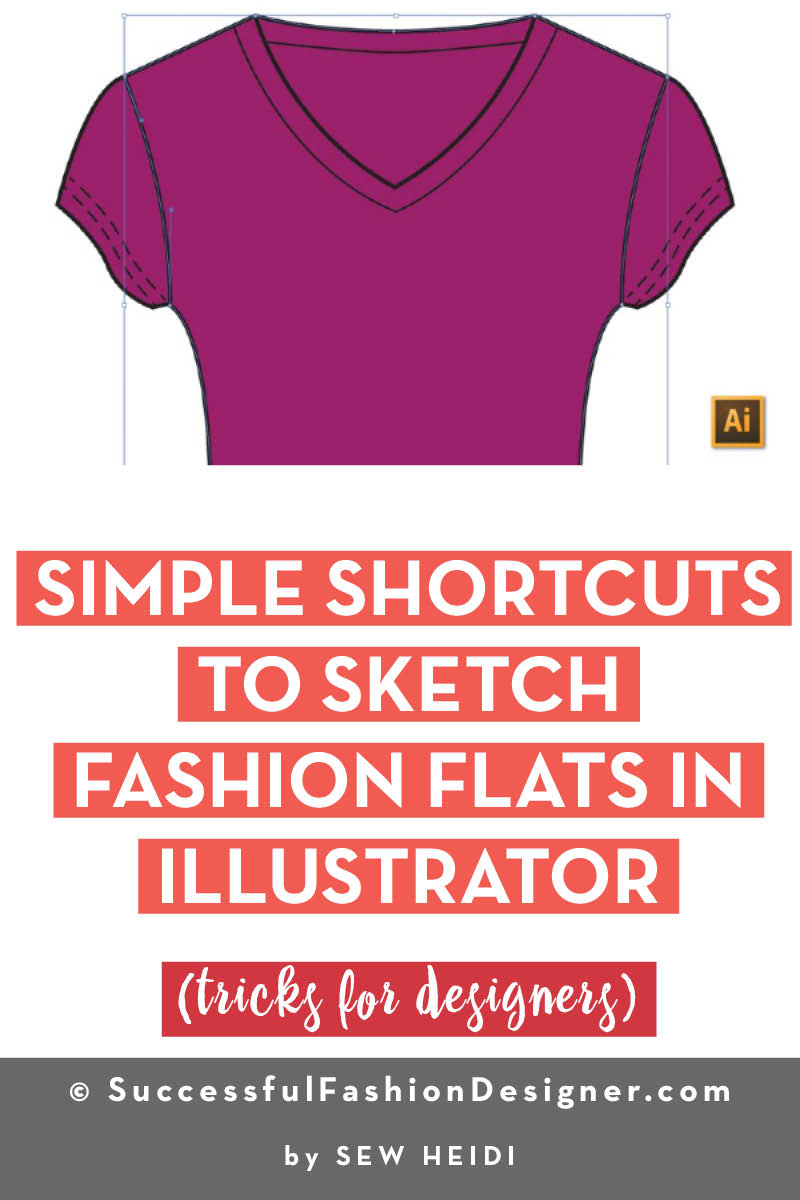Fashion Flats in Illustrator: Copy Path Segment