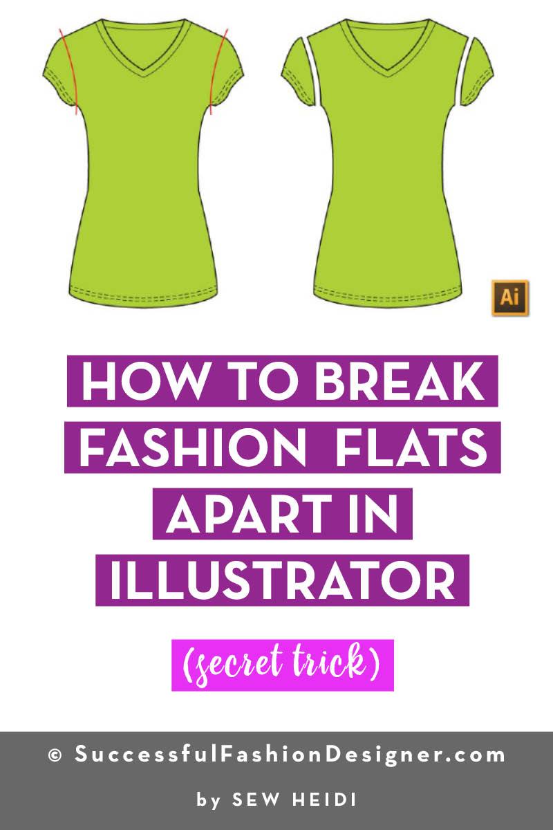Fashion Flats in Illustrator: Pathfinder Divide