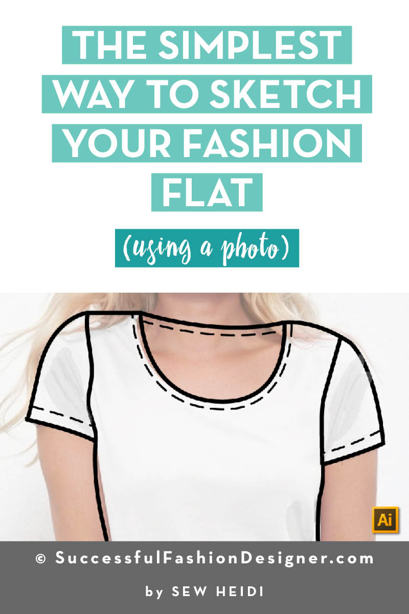 How to Trace a Photo of a Garment in Illustrator