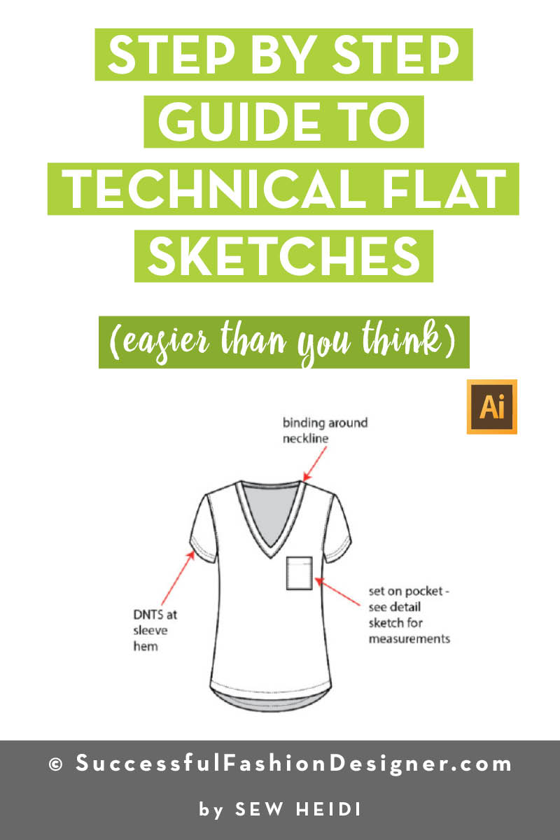 How to Create Technical Flat Sketches in Illustrator