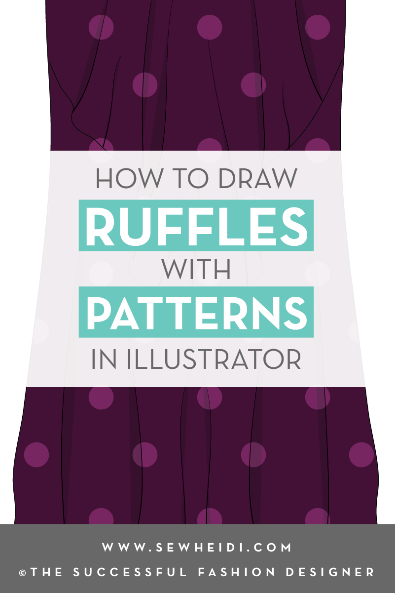 How to Draw Ruffles with Repeating Patterns in Illustrator for Fashion Design tutorial by {Sew Heidi}