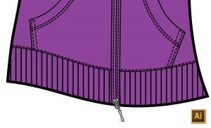 Ribbing for Cuffs, Hems & Collars in Fashion Flats Illustrator Tutorial by {Sew Heidi}