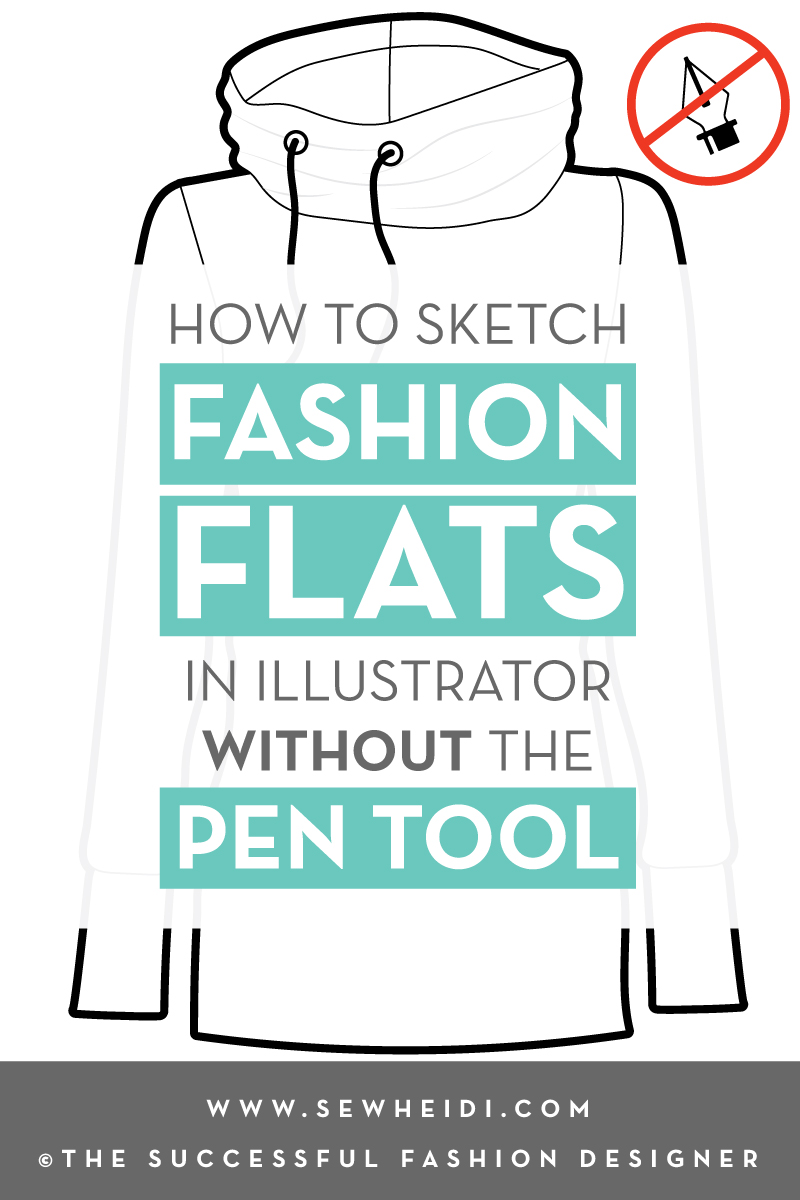 Sketch Fashion Flats in Illustrator without the Pen Tool Tutorial by {Sew Heidi}