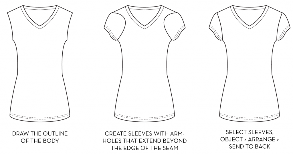 {Sew Heidi} Drawing Fashion Flats in Illustrator: Object  Arrange