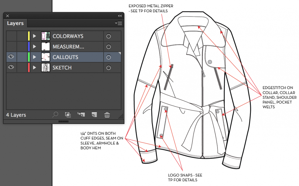 How To Spec A Garment In Illustrator Courses Free Tutorials On Adobe Illustrator Tech Packs Freelancing For Fashion Designers Courses Free Tutorials On Adobe Illustrator Tech Packs