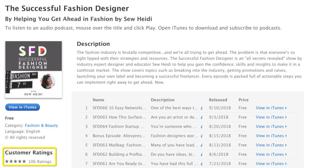 Successful Fashion Designer Podcast
