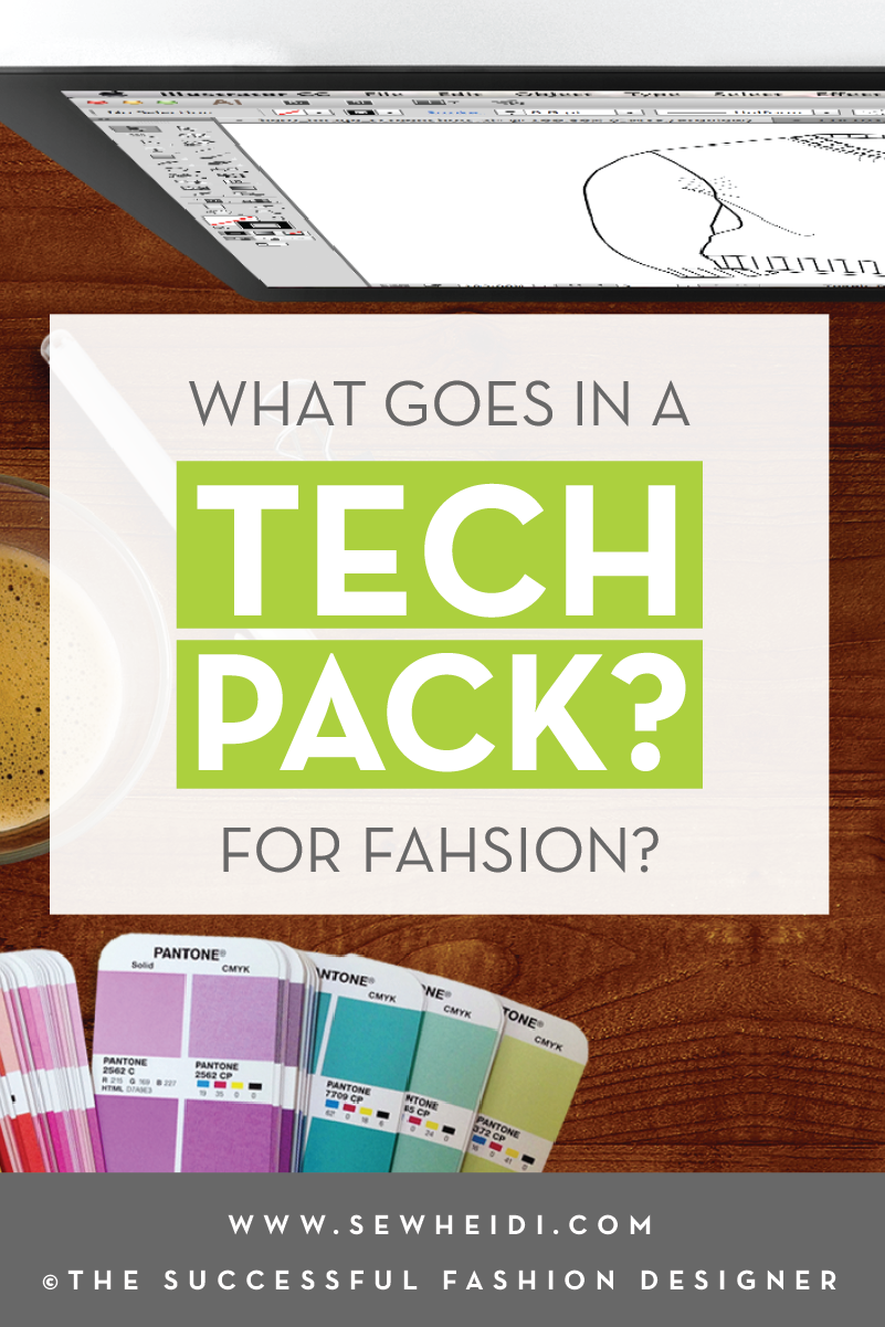What Goes in a Tech Pack for Fashion Design: Free Tutorial & Tech Pack Template by {Sew Heidi}