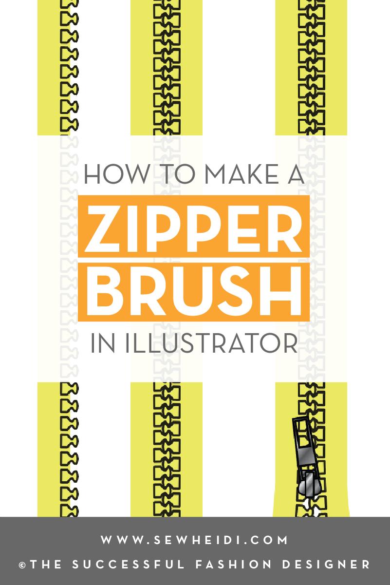 How to Create a Zipper Pattern Brush in Adobe Illustrator: Free Fashion Design Tutorials by {Sew Heidi}