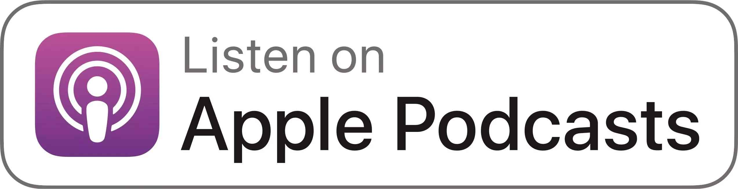 Apple Podcast logo - where If You Build It, Will They Learn? can be streamed