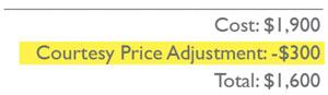 Courtesy Price Adjustment for Freelance Fashion Designers by Sew Heidi