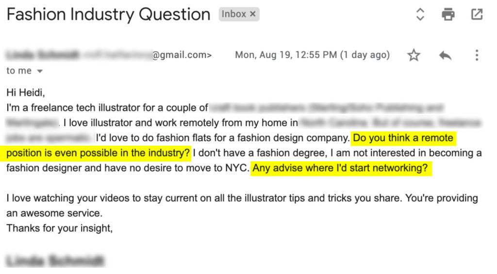Work in fashion, don't send emails like this