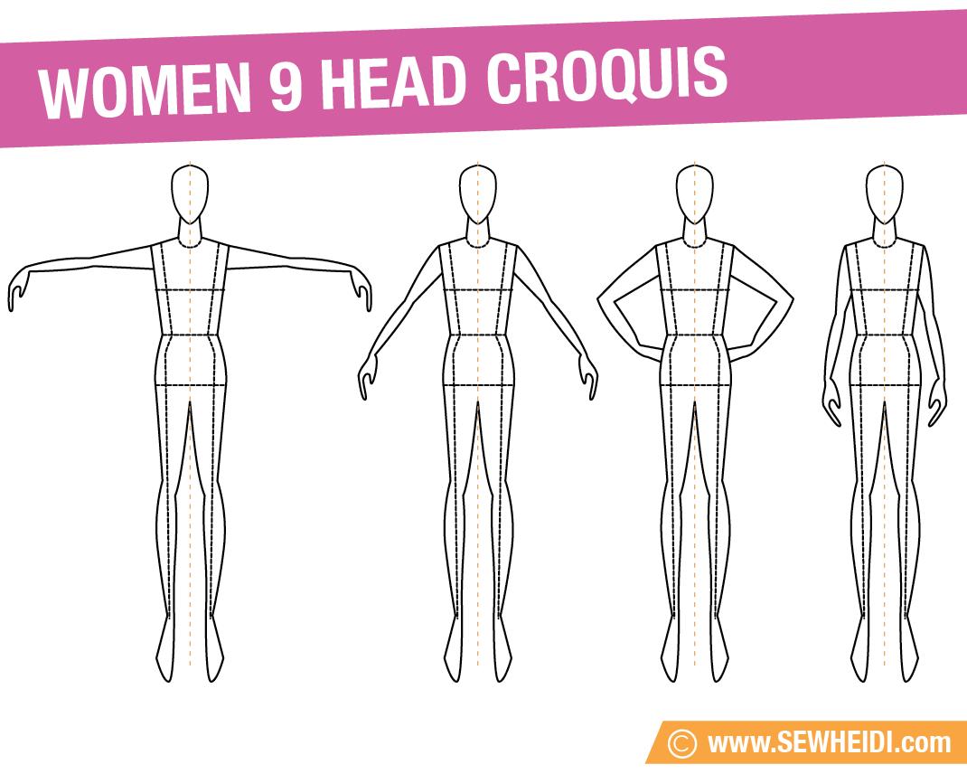 Printable Fashion Design Croquis
