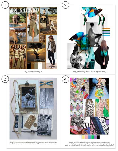 What to include in your fashion portfolio: moodboard examples