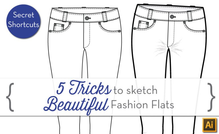 {Sew Heidi} 5 Tricks to Sketch Beautiful Fashion Flats in Illustrator