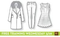Free Illustrator Training for Fashion Designers: Fashion Flat Sketching by {Sew Heidi}