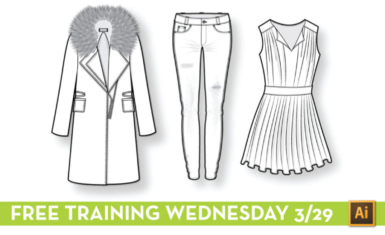 Free Fashion Flat Sketching Live Training Wednesday Courses Free Tutorials On Adobe Illustrator Tech Packs Freelancing For Fashion Designers Courses Free Tutorials On Adobe Illustrator Tech Packs