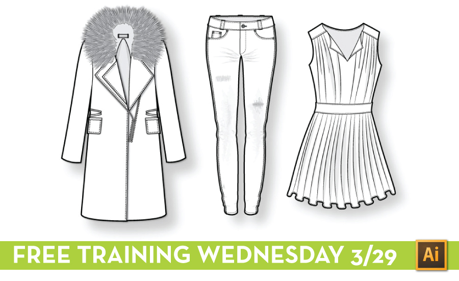 Free Illustrator Training for Fashion Designers: Fashion Flat Sketching by {Sew Heidi}