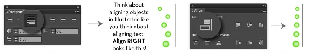 Align in Illustrator
