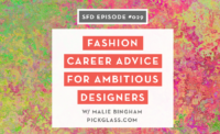 Fashion Career Advice: Malie Bingham Pickglass Successful Fashion Designer Interview with Sew Heidi
