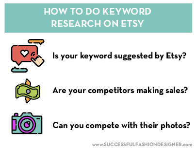 do thorough keyword research when you start a clothing line on Etsy